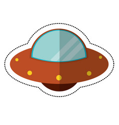 Ufo vehicle space shadow vector