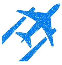 Air jet trace grainy texture icon vector