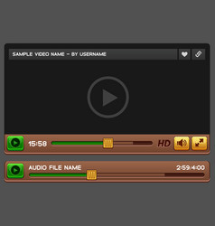 Video and audio player vector