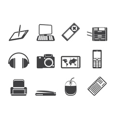 Hi-tech technical equipment icons vector