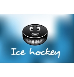 Cartoon ice hockey puck vector