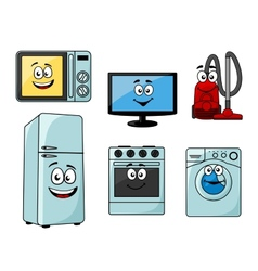 Cartoon household appliances set vector