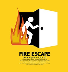 Fire escape graphic sign vector