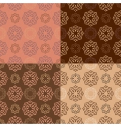 Set of four ornamental seamless pattern vector