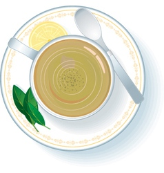 cup with green tea vector image