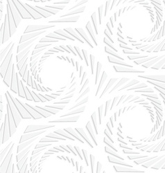 Paper white hexagons with swirled texture vector