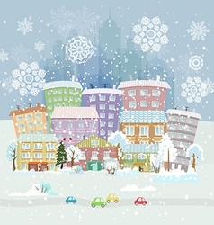 Winter city life vector