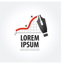 business logo design template stock vector image