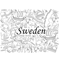 Sweden coloring book vector