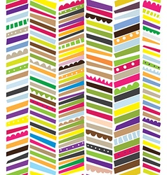 Abstract seamless textile pattern with stripes vector image vector image