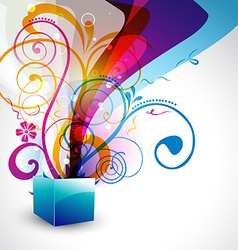 beautiful gift box vector image vector image
