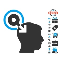 Brain Interface Plug-In Icon With Free Bonus vector image vector image