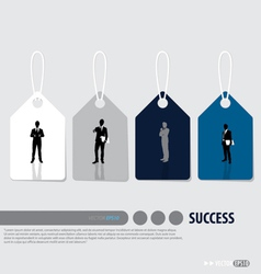 Business concept tags design vector image vector image