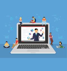 Business seminar speaker presentation and vector