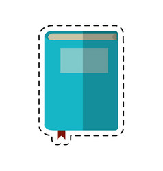 Cartoon book study knowledge icon vector