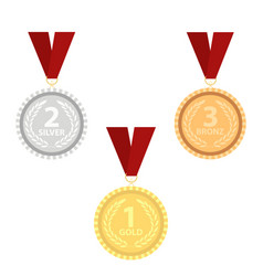 Champion gold silver and bronze vector