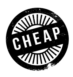 Cheap stamp rubber grunge vector image vector image