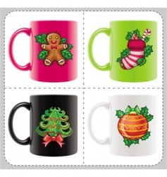 christmas cups vector image