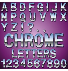 Chrome Letters vector image vector image