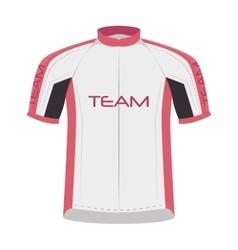 Cyclist sportwear shirt vector