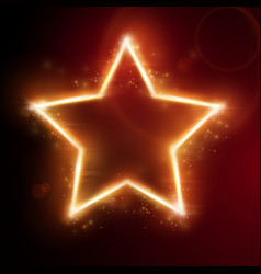 fiery star frame vector image vector image