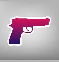 Gun sign purple gradient vector