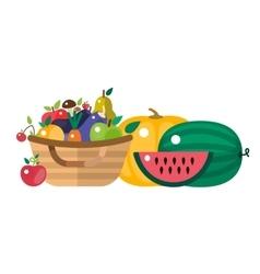 Harvest time vector image