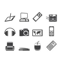 Hi-tech technical equipment icons vector