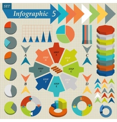 Infographics Elements Set For Business - vector image vector image
