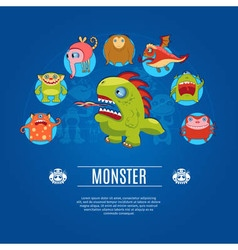 Monster concept icons vector