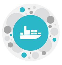Of shipment symbol on shipment vector