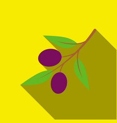 olive icon flate singe vegetables icon from the vector image vector image