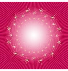 Purple christmas frame vector image vector image