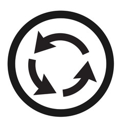 Roundabout circulation sign line icon vector