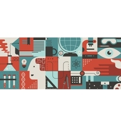 Science flat background vector image