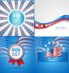 Set of american flag abstract background vector