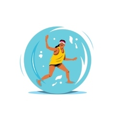 Water zorbing cartoon vector