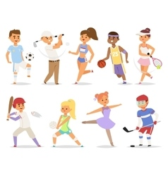 Various sports people vector