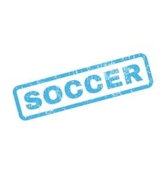 Soccer Rubber Stamp vector image