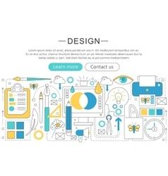 Elegant thin flat line design and art vector