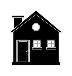 Pictogram cottage wooden chimney exterior vector