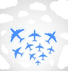 Flying airplanes vector image