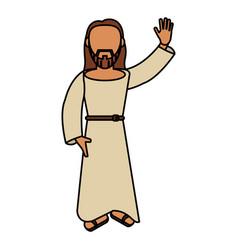 Jesus christ catholic blessed vector