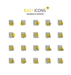 easy icons 23d database vector image
