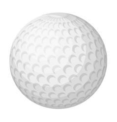 Golf ballgolf club single icon in monochrome vector