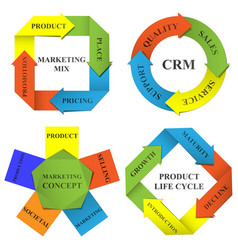 Diagrams of marketing vector