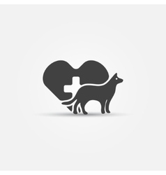 Dog vet icon vector