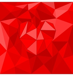 Red valentines heart on red wrapping background vector
