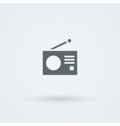 Minimalistic icons with a vintage radio vector