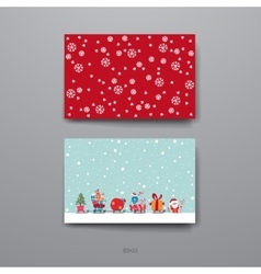 Merry christmas set of card templates vector